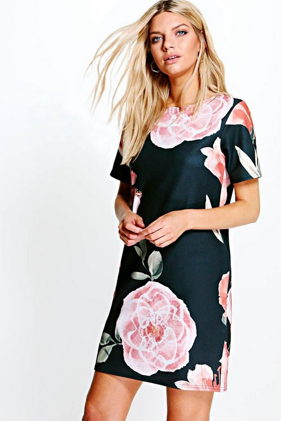 Yvonne Floral Cap Sleeve Shirt Dress