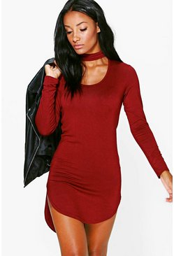 Wanda Choker Long Sleeve Bodycon Dress
