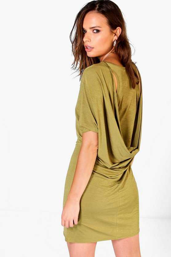 Jinny Cowl Back Shift Dress