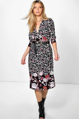 Rita Wrap Front Midaxi Shirt Dress