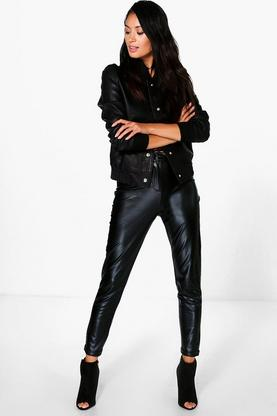 Sisi Metallic Super Skinny Stretch Trousers