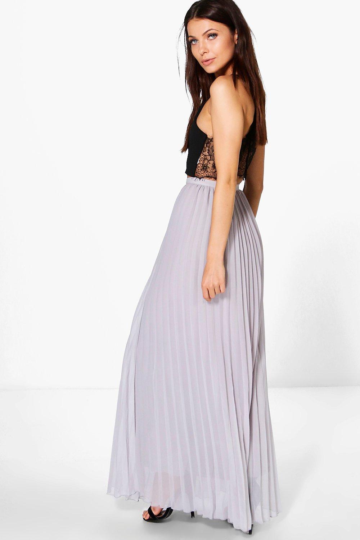 boohoo womens chiffon pleated maxi skirt ebay