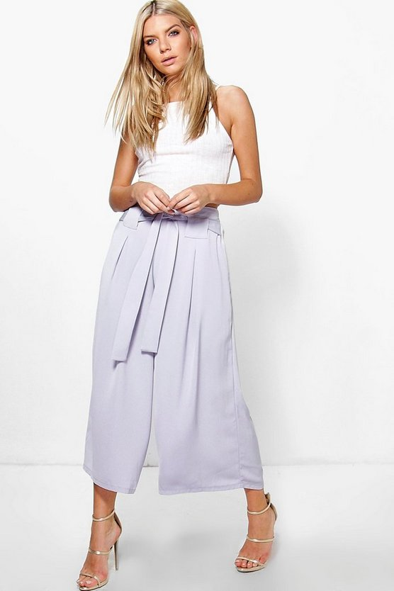 Roza Belted Woven Wide Leg Culottes
