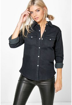 Phoebe Stretch Slim Denim Shirt