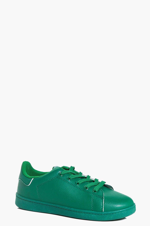 boohoo Colour Block Trainer - green