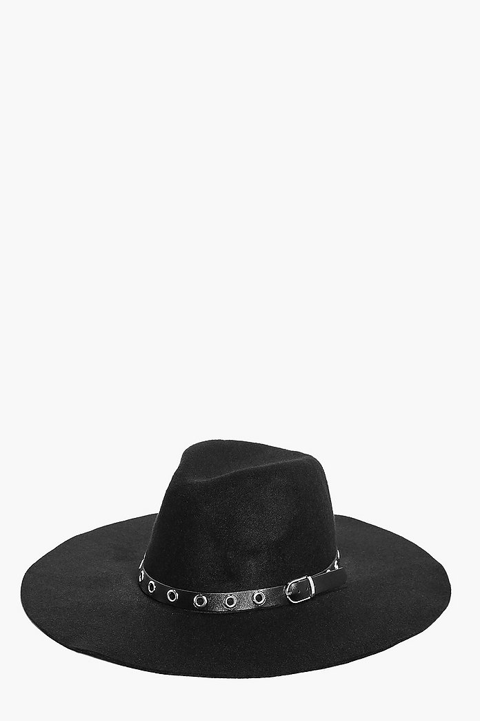 Katie Wool Fedora With Eyelet Band
