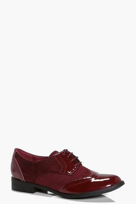Laura Mix Material Brogue