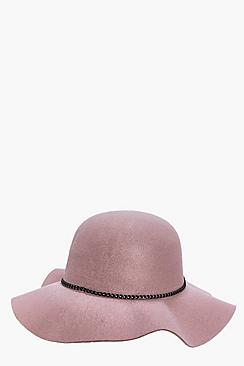 Lauren Chain Trim Floppy Hat