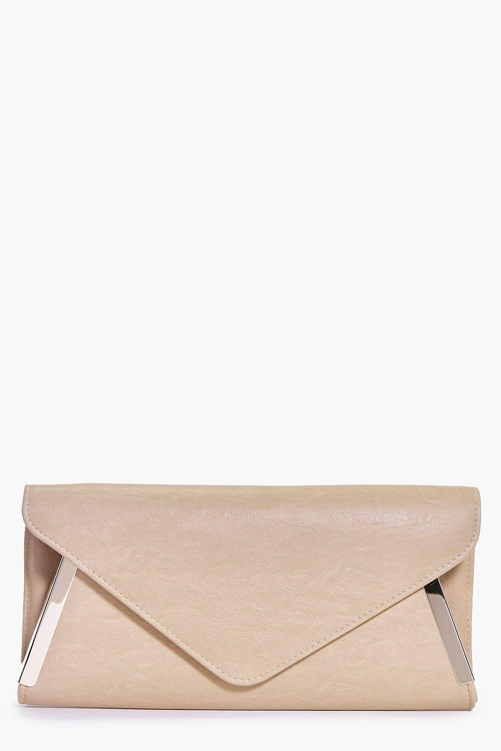 Anna Metal Detail Envelope Clutch Bag