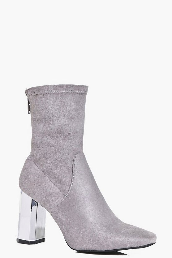 Laura Metallic Hexagon Sock Boot