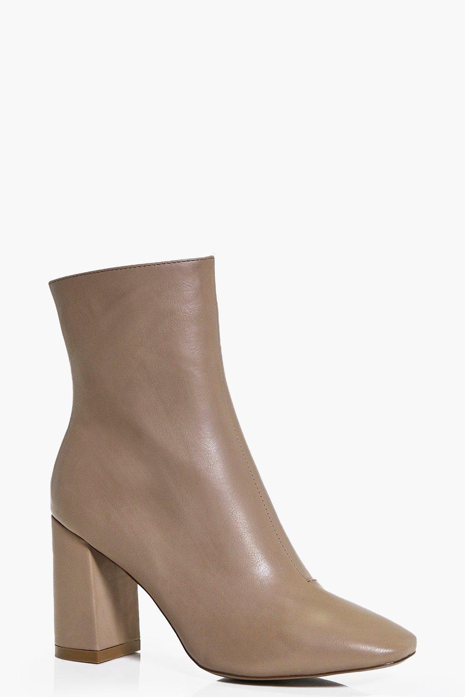 Faye Block Heel Sock Boot