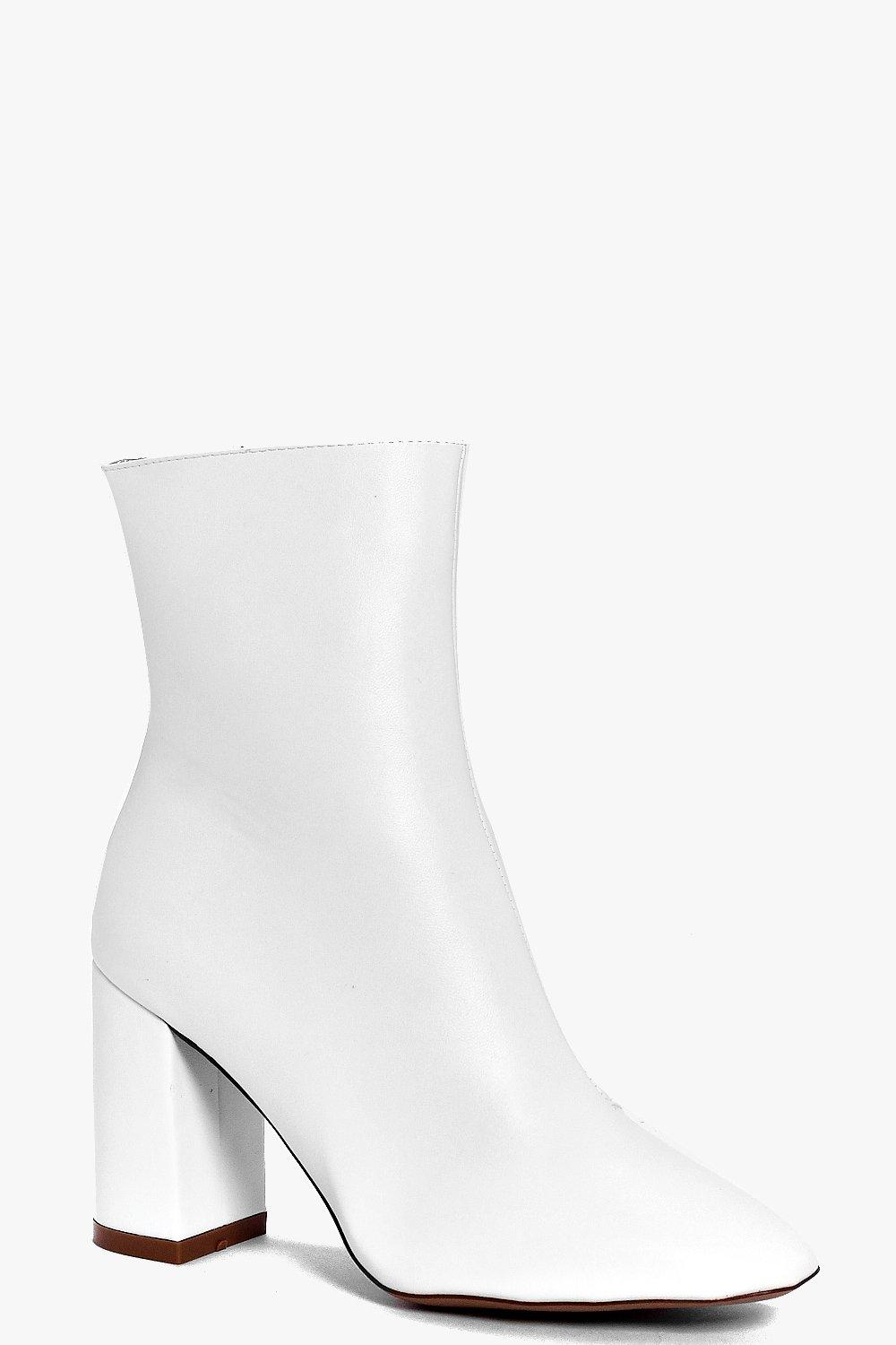 Edie Block Heel Sock Boot