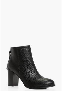 Elena Block Heel Ankle Boot