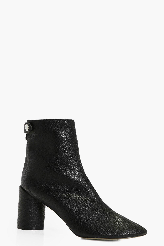 boohoo Cylinder Heel Sock Boot - black