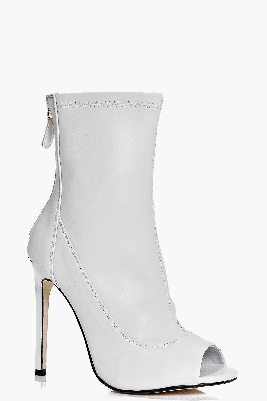 Frankie Peeptoe Sock Shoe Boot