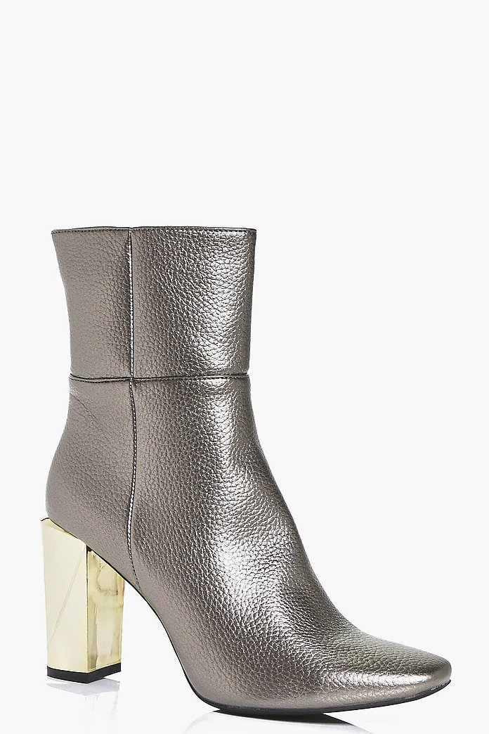 Tia Interest Heel High Ankle Boot