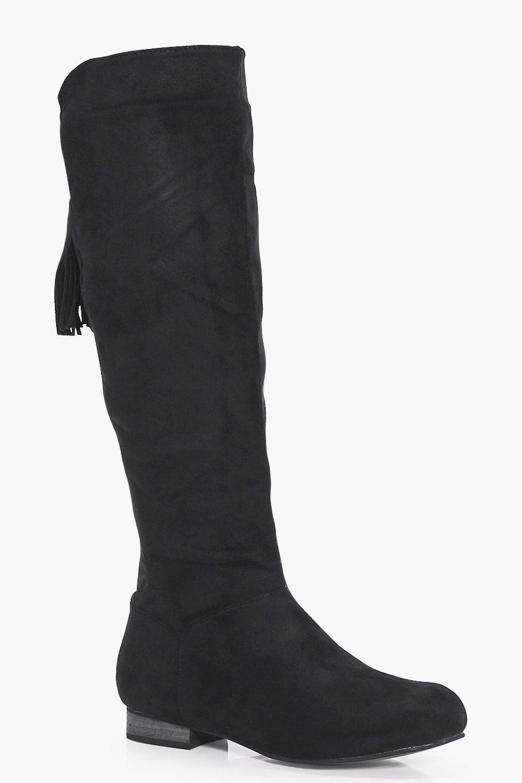 Lily Flat Elastic Back Knee Boot