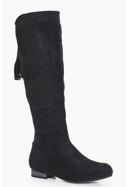 Lily Flat Elastic Back Knee Boot