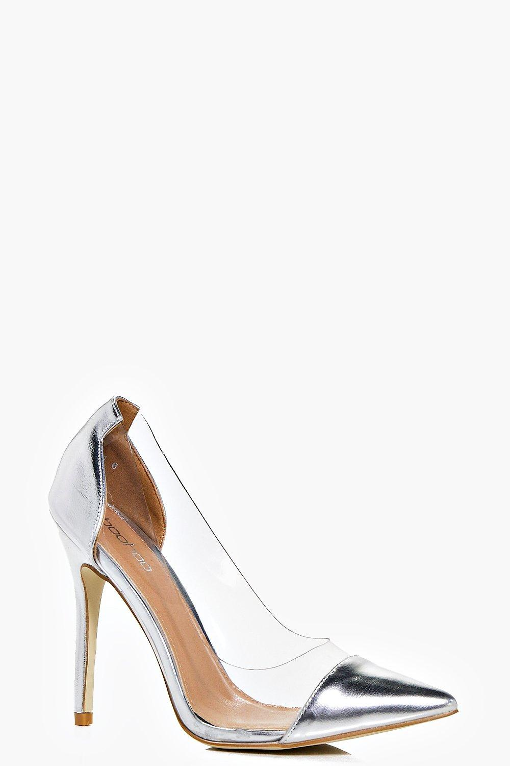 boohoo Clear Metallic Courts - silver