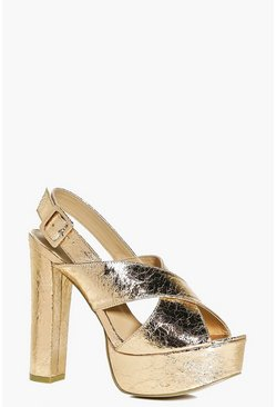 Molly Cross Front Slingback Platform
