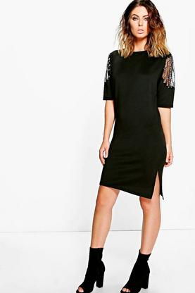 Maisy Diamante Trim Shift Dress