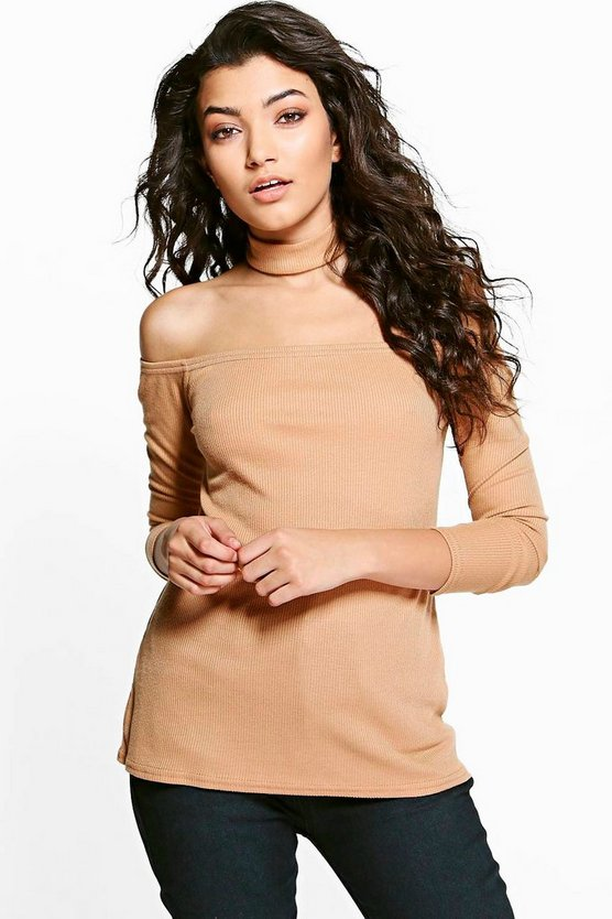 Niamh Bardot Detachable Choker Jumper