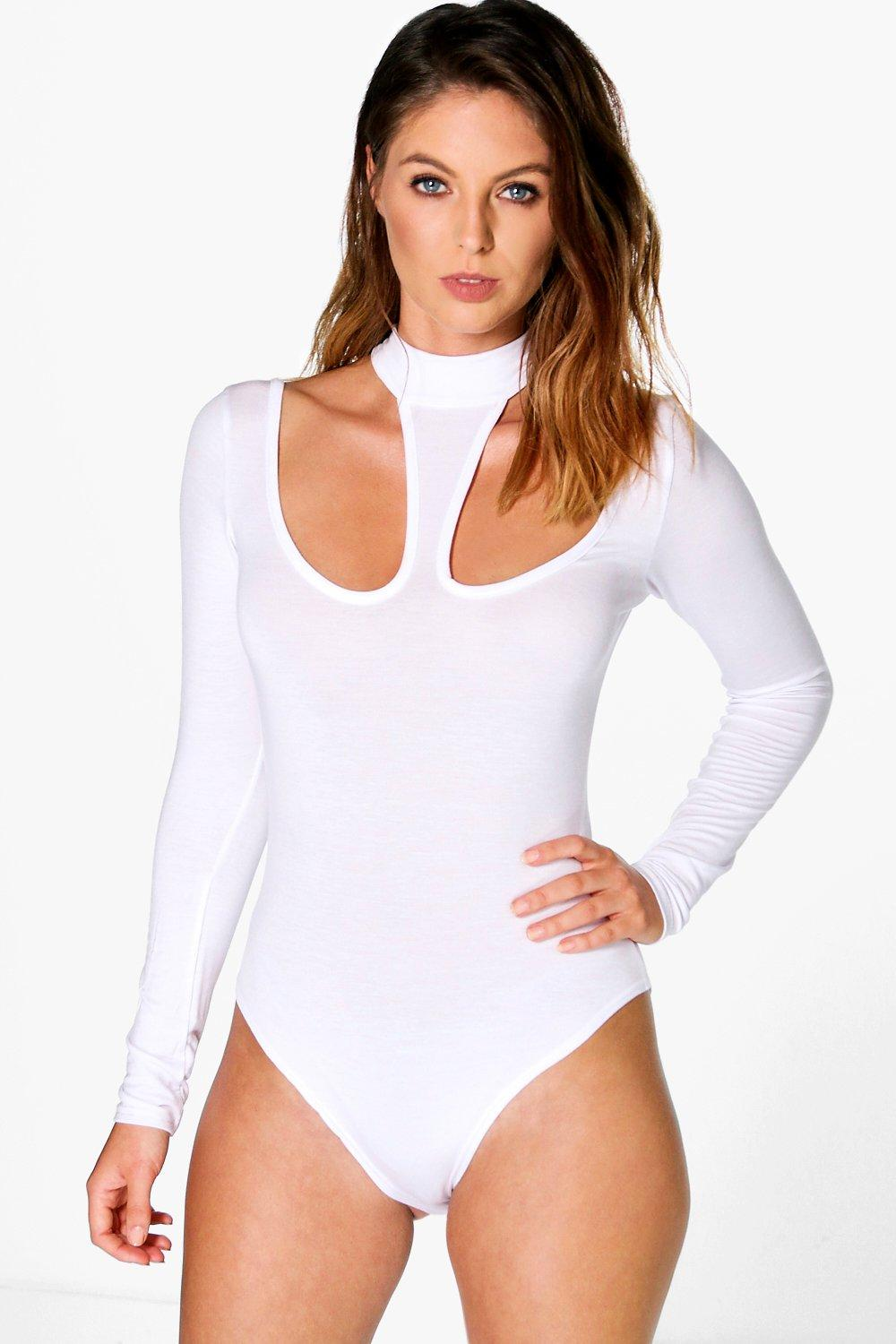 Willow Choker Cut Out Long Sleeve Bodysuit