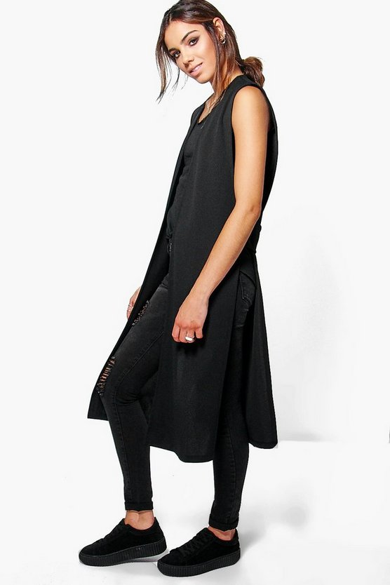 Harriet Cut Out Side Sleeveless Jacket