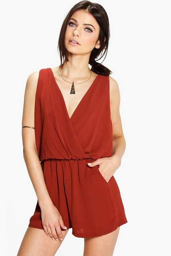Molly Wrap Front Playsuit