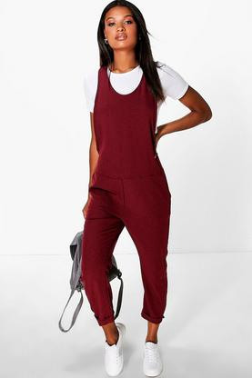 Eva Relaxed Fit Dungaree Style Jumpsuit