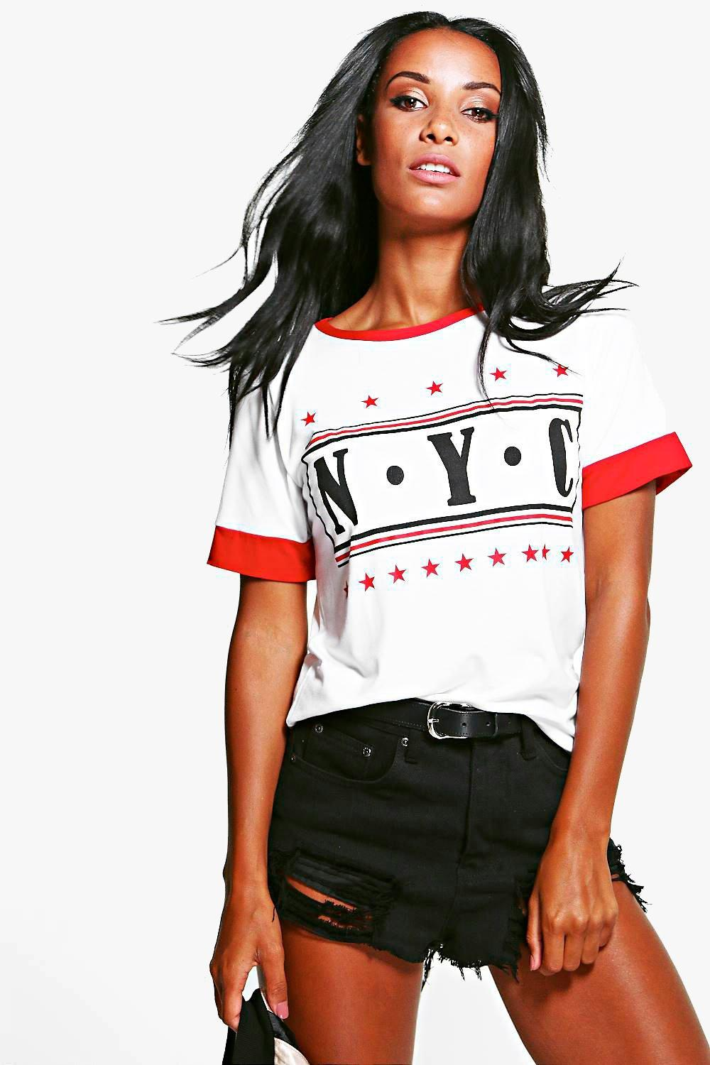 Lucy Ringer Slogan NYC Tee