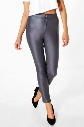 Lara High Rise Coated Skinny Jeans