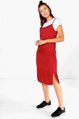 Katie Silky Midi Slip Dress