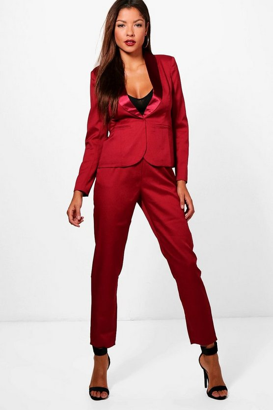 Lily Tailored Tuxedo Waistband Trousers