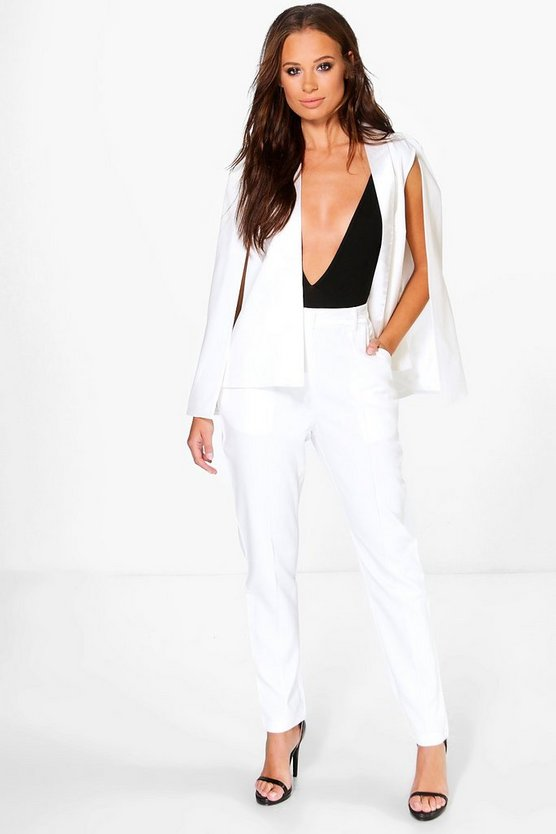 Olivia Tailored Tuxedo Pintuck Trousers