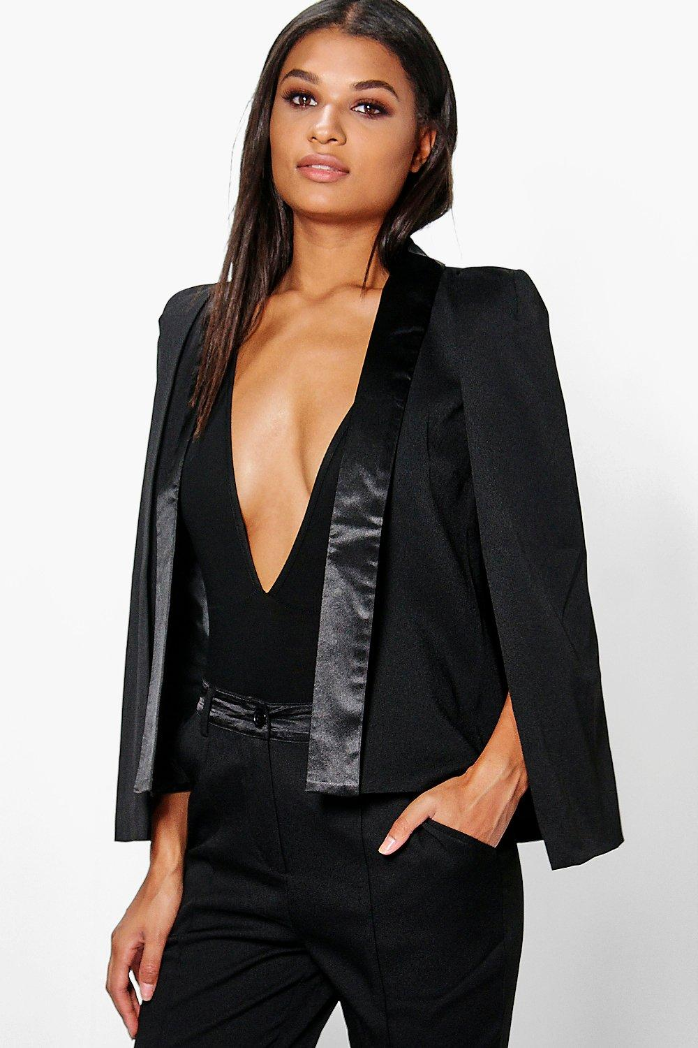 Olivia Tailored Tuxedo Cape Blazer