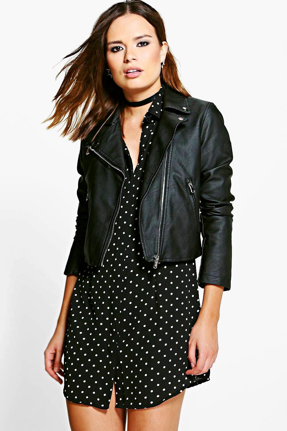 Niamh Faux Leather Biker Jacket