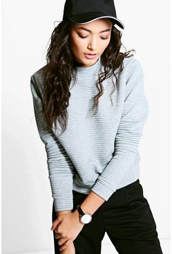 Becca Large Ribbed Sweatshirt