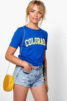 Nina Colorado Slogan T-Shirt