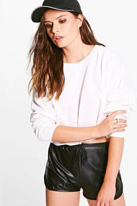 Rita Raw Hem Oversized Boxy Crop Sweat