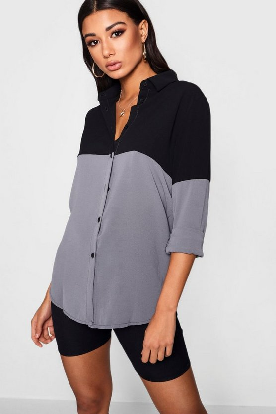 Jess Colour Block Woven Shirt
