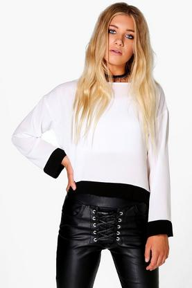 Alice Mono Panel Woven Top