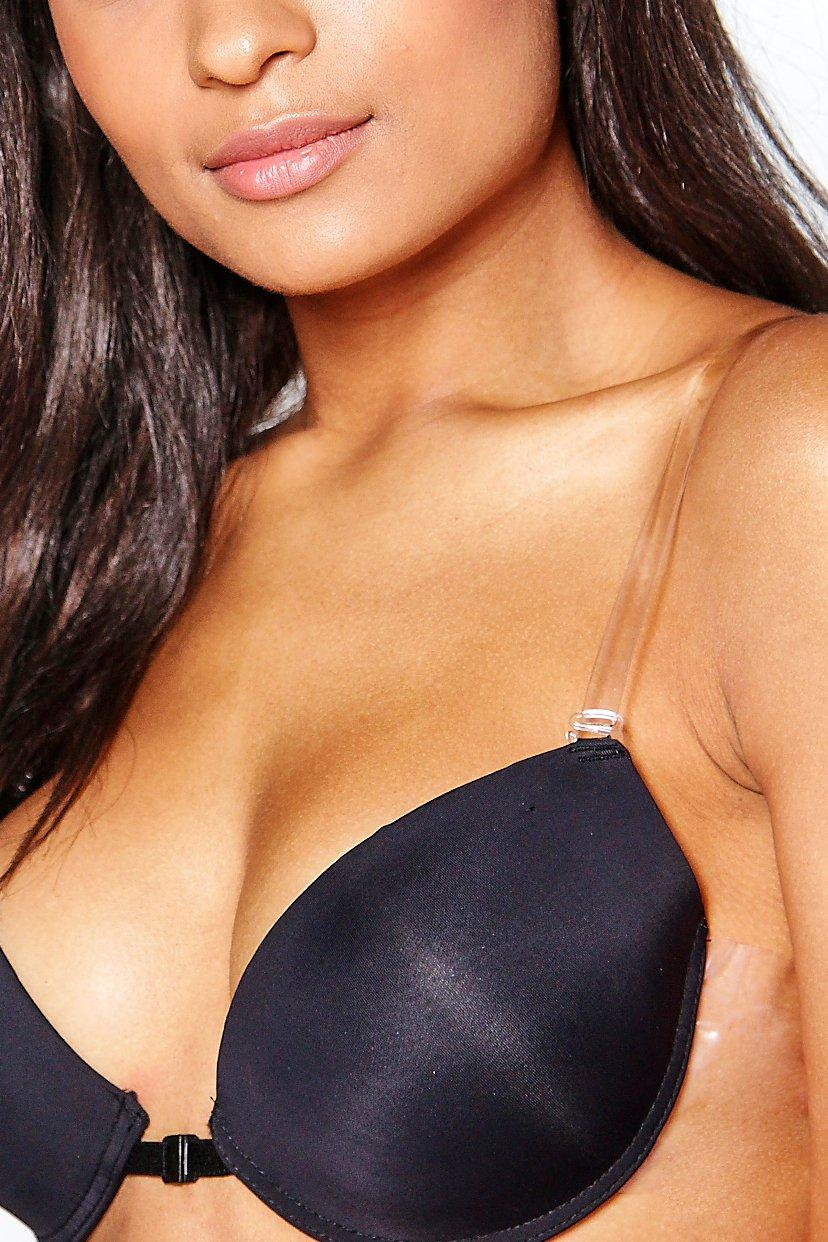 boohoo Womens Clear Silicone Adjustable Bra Straps - White - One Size, White