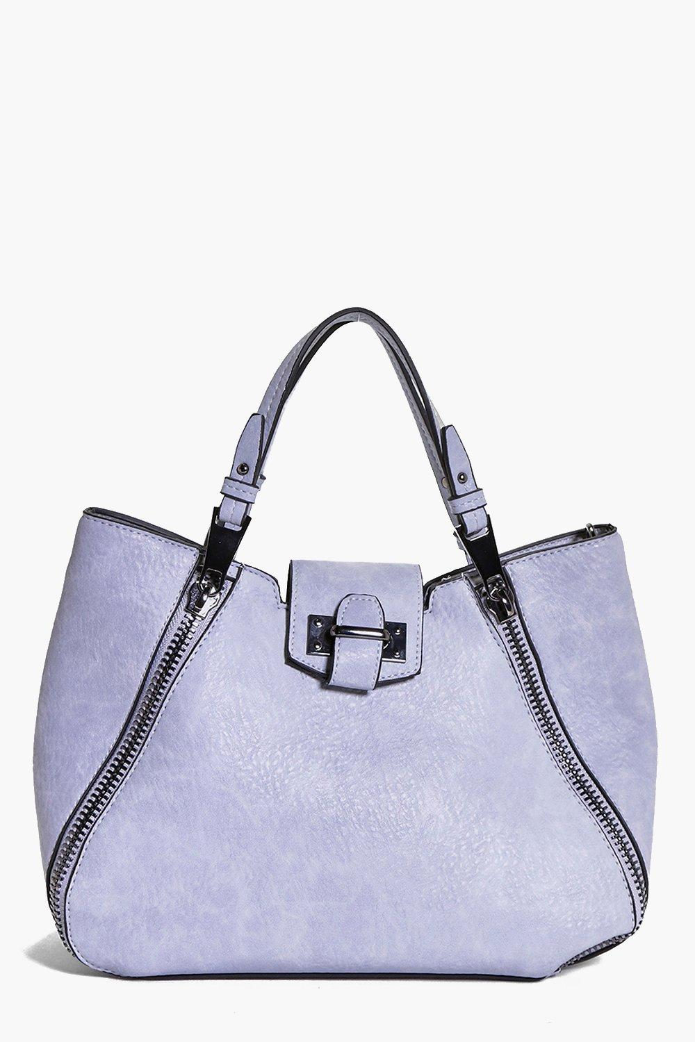 Metal Zip Detail Day Bag blue