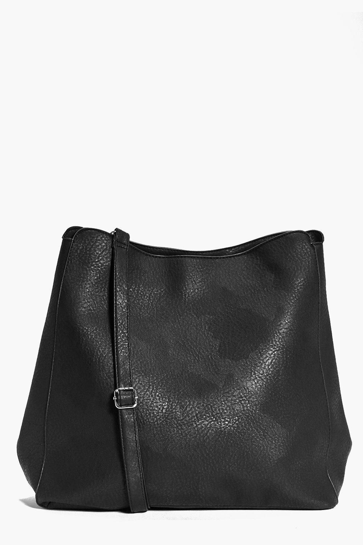 Oversize Bucket Day Bag black