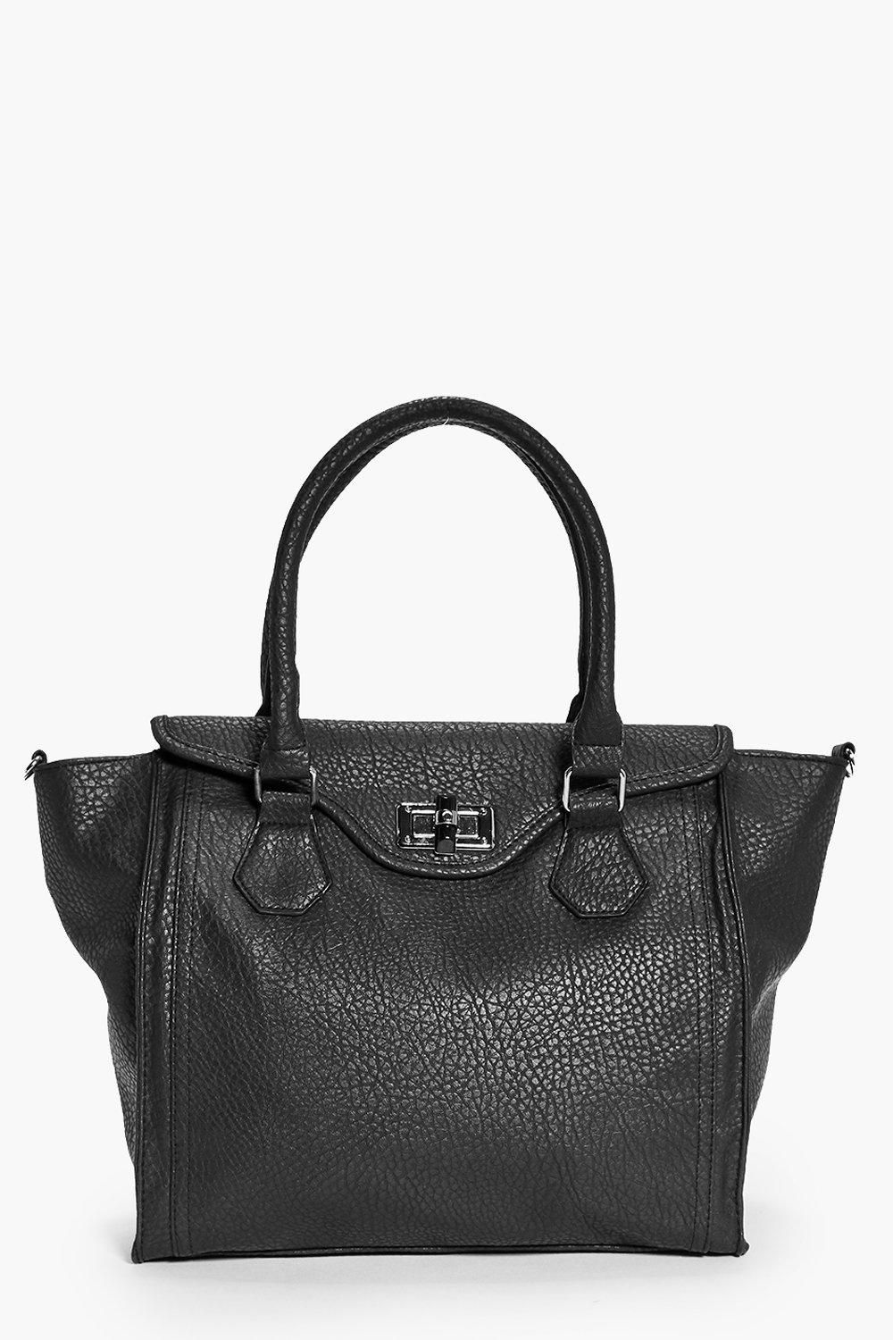 Twist Lock Winged Day Bag black