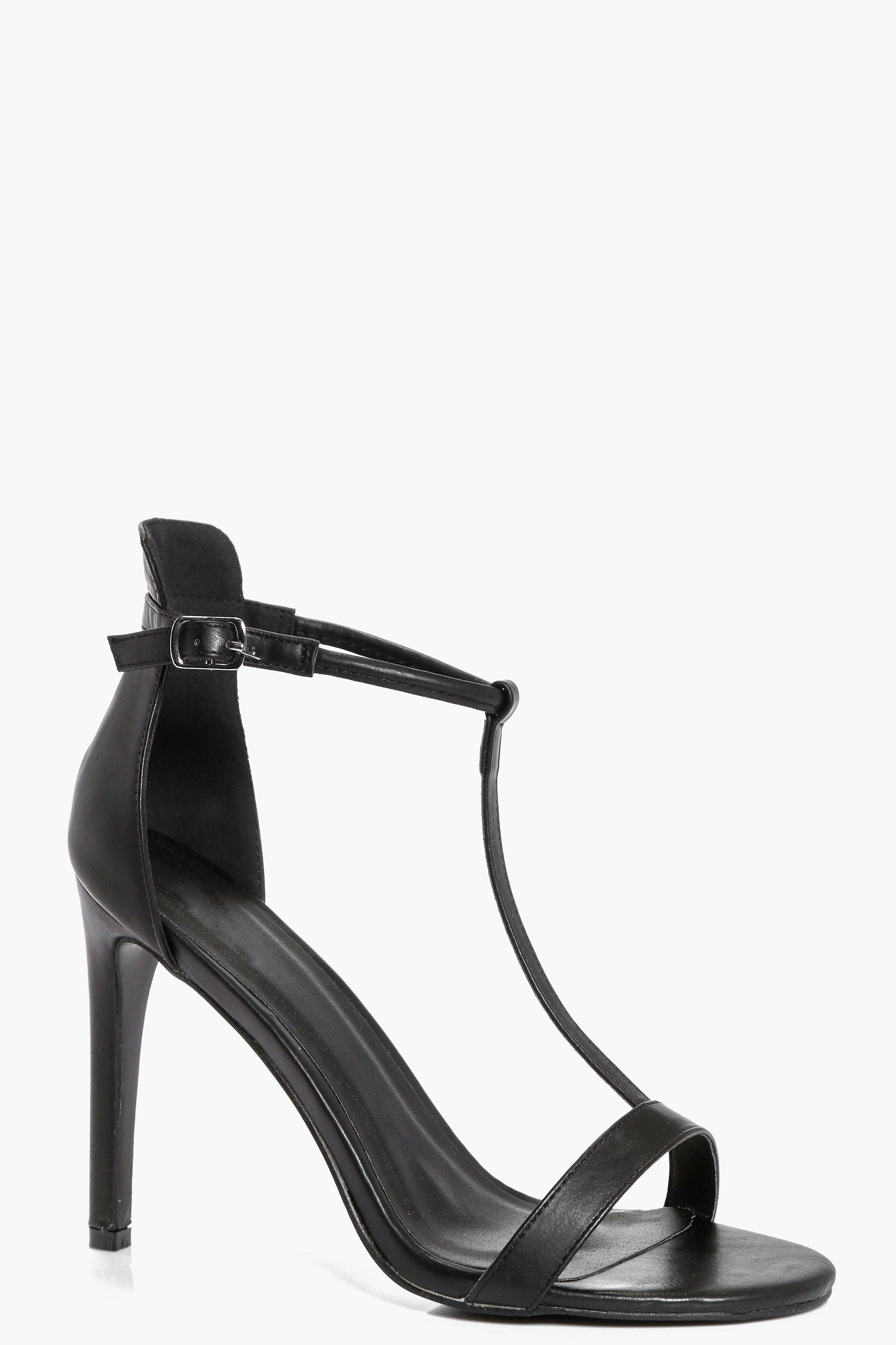 boohoo T Bar Stiletto Shoes - black