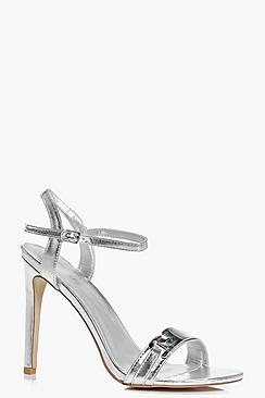 Lena Metallic Trim Two Part Heels