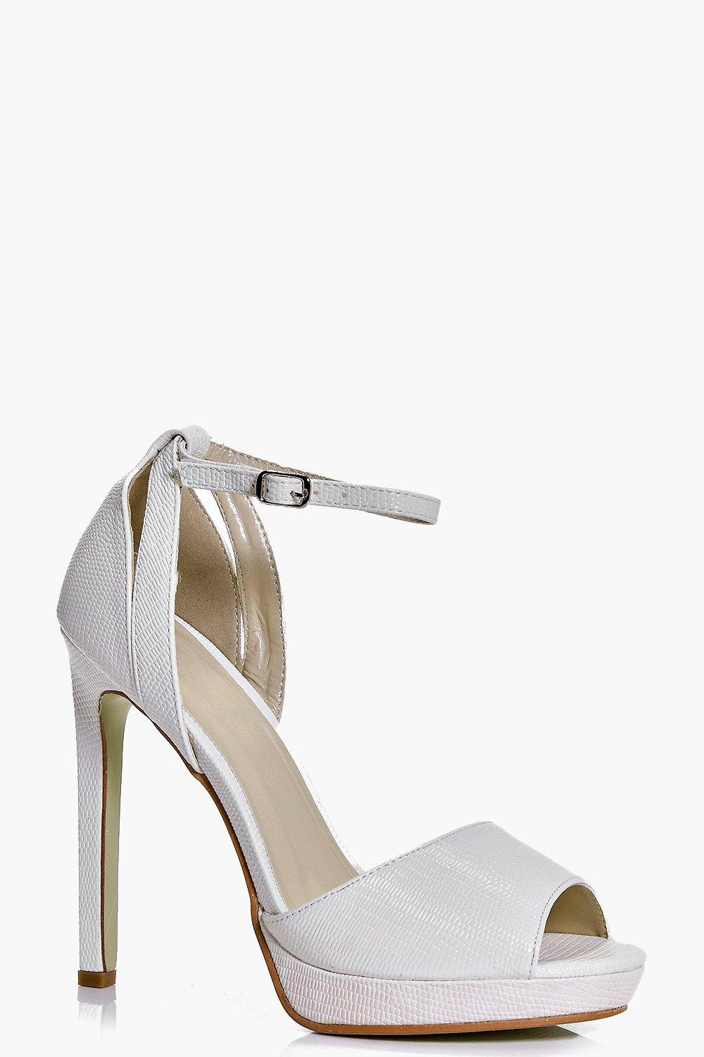 Zoe Lizard Effect Peeptoe Two Part