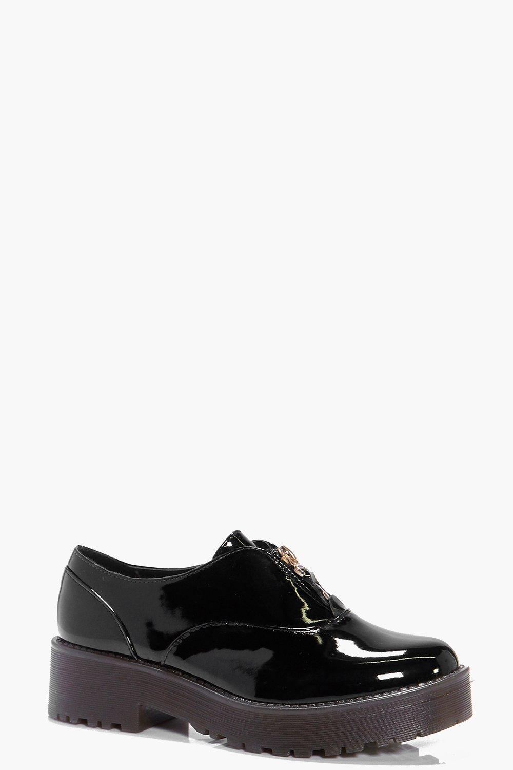 Emilia Zip Up Cleated Brogue